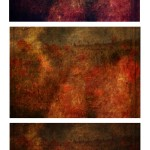 Abstract Flower Texture Trio