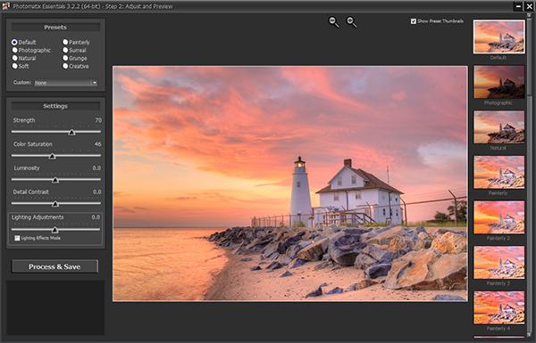 Combined Exposures - Default Settings Photomatix Essentials