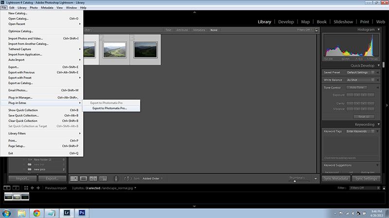 Export to Photomatix Pro