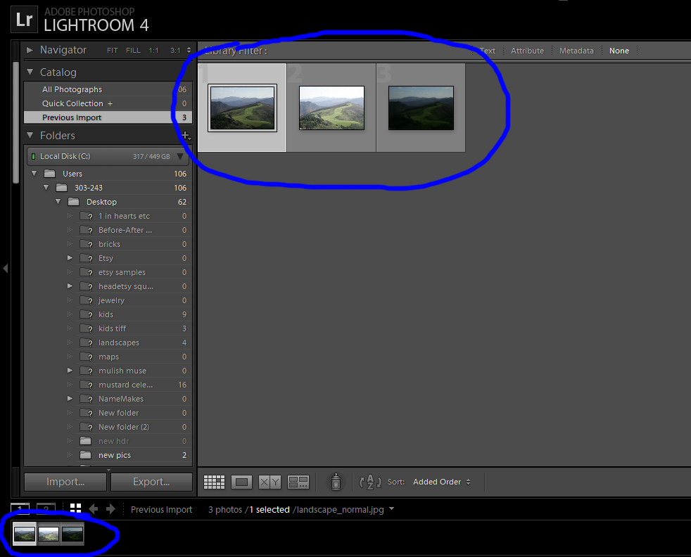 Select Photos to Export to Photomatix Plugin in Lightroom