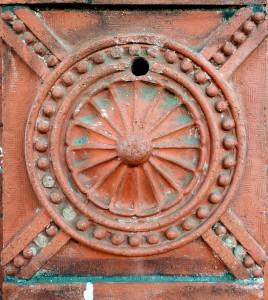 red ornate brick st.helena