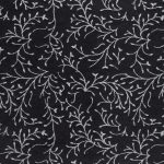 black silver leaves paper