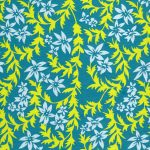 yellow green blue floral paper background
