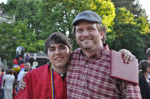 father son graduation