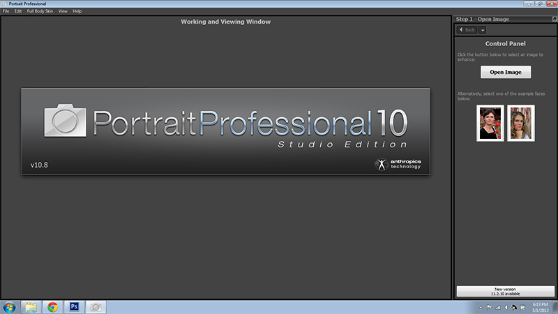 Portrait Professional opening Screenshot