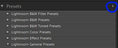 Make New Preset Button